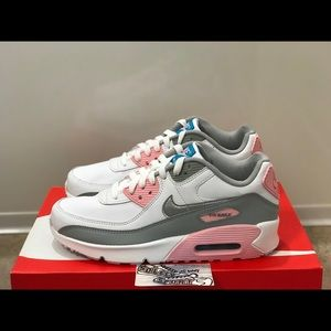 NEW Nike Air Max 90 Leather Pink White Running